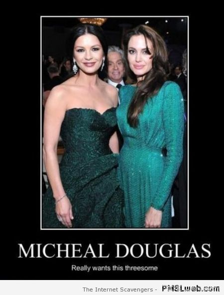 Michael Douglas wants a threesome humor – Happy Monday vibes at PMSLweb.com