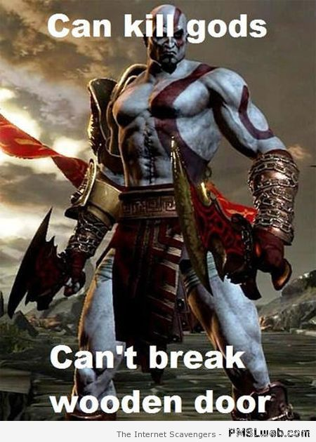 God of war meme – Video game logic at PMSLweb.com