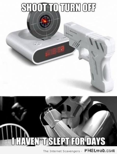 Star Wars alarm clock meme -  Star Wars funnies at PMSLweb.com