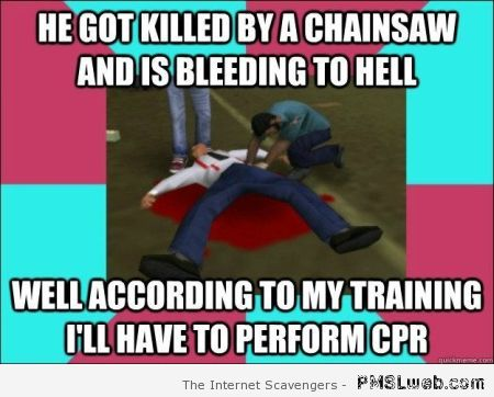 GTA killed by a chainsaw logic meme at PMSLweb.com