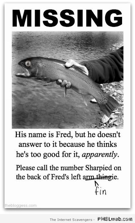 Missing fish humor at PMSLweb.com