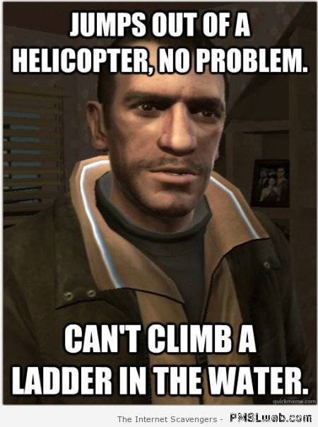 GTA character logic meme at PMSLweb.com