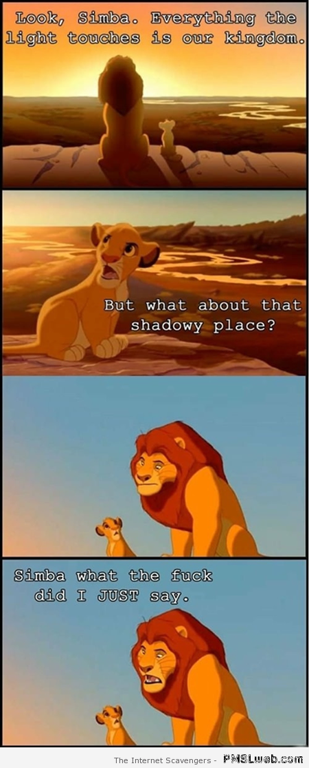 Simba and Mufasa funny meme at PMSLweb.com