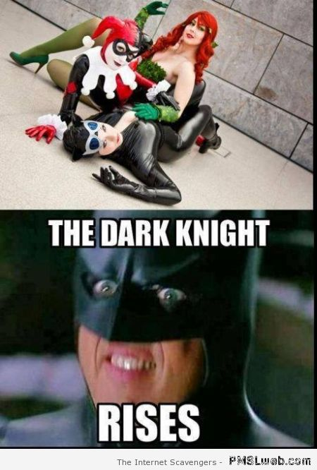 The dark night rises meme at PMSLweb.com