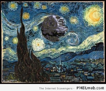 Death Star Van Gogh at PMSLweb.com