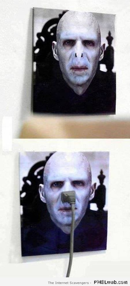 Lord Voldemort charger – TGIF laughter at PMSLweb.com