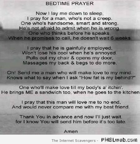 Funny bedtime prayer – Hump day nonsense at PMSLweb.com