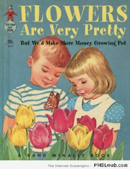 Funny growing flowers book for children at PMSLweb.com
