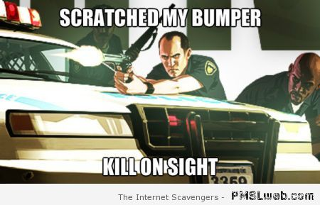 Grand theft auto logic meme at PMSLweb.com