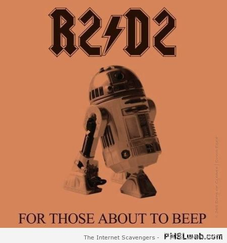 R2D2 ACDC humor at PMSLweb.com