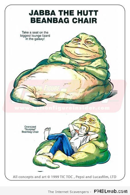 Jabba the hut beanbag – Star Wars funnies at PMSLweb.com