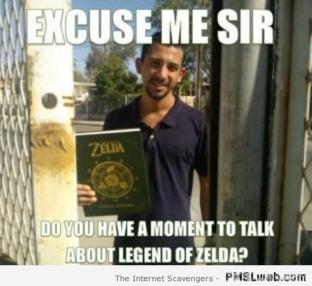Do you have time to talk about the legend of Zelda at PMSLweb.com