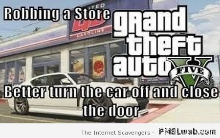 Funny GTA meme – Video game logic at PMSLweb.com