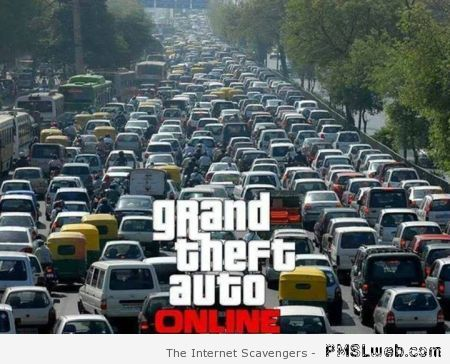 Grand theft auto online humor at PMSLweb.com