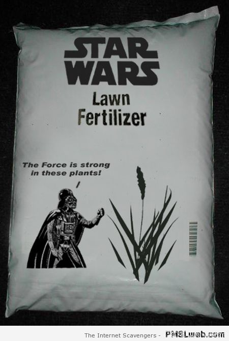 Star Wars lawn fertilizer at PMSLweb.com