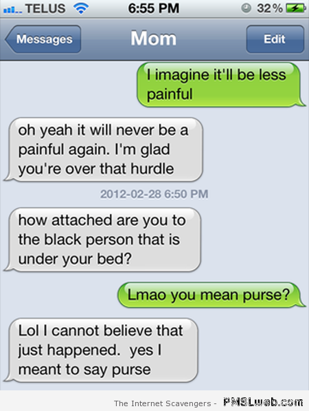 Black person under your bed funny autocorrect – Happy Monday vibes at PMSLweb.com