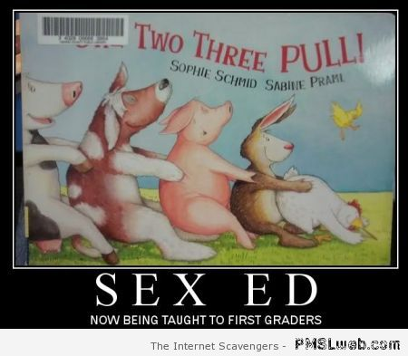 Sex ed for first graders – Humorous Tuesday at PMSLweb.com