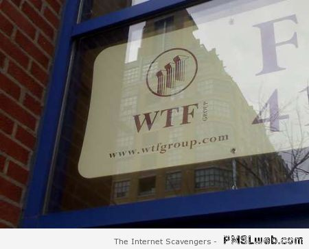 WTF group sign at PMSLweb.com