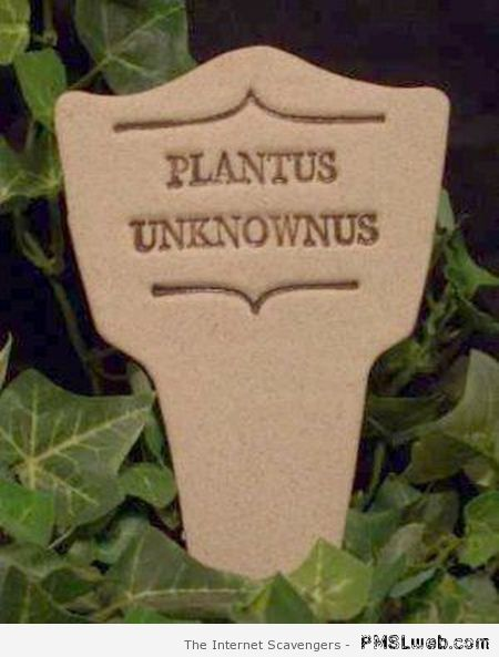 Funny unknown plant sign at PMSLweb.com