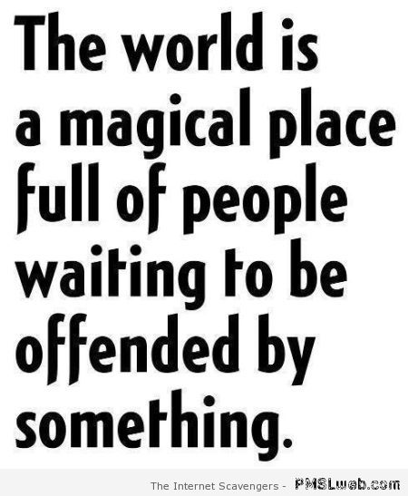 The world is a magical place funny quote at PMSLweb.com