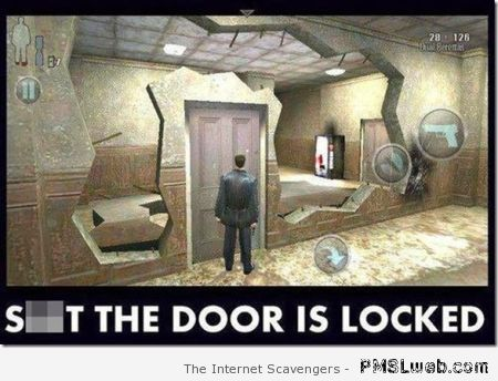 The door is locked logic in video games at PMSLweb.com
