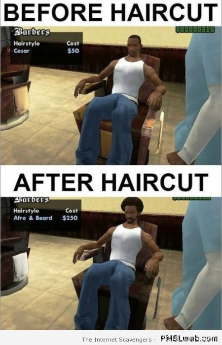 Video game haircut logic at PMSLweb.com