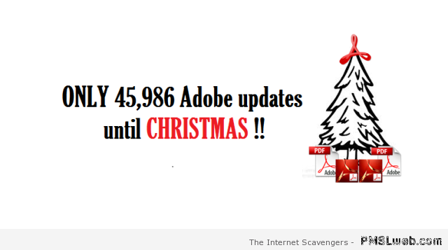 Adobe updates  until Christmas humor