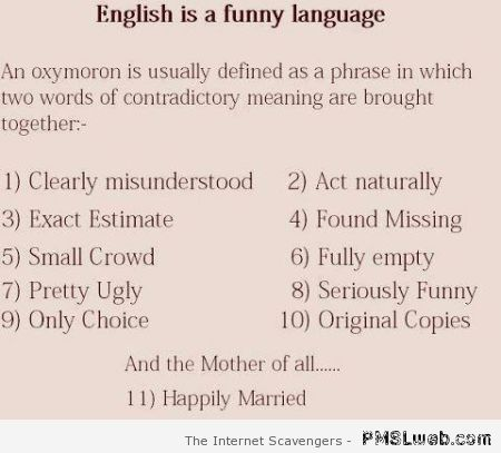 English is a funny language – Crazy Tuesday at PMSLweb.com