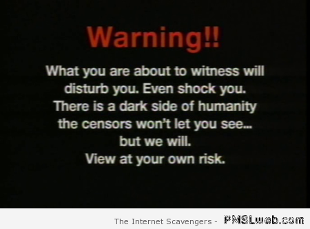 Scary page warning – Scary stories at PMSLweb.com