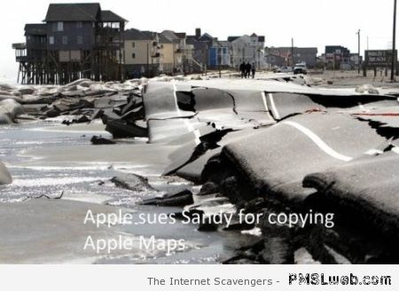 Apple sues Sandy humor at PMSLweb.com