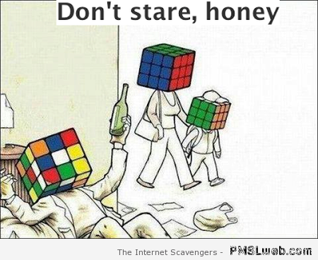 Funny rubix cube cartoon at PMSLweb.com