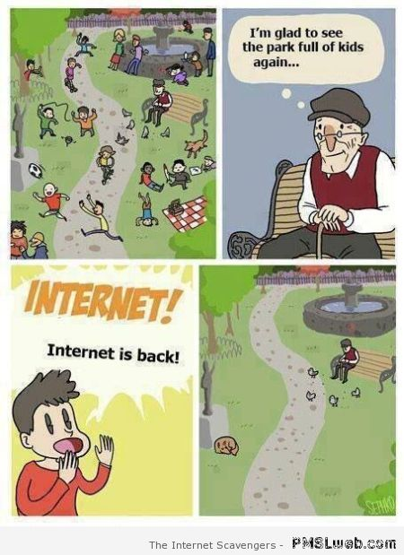 Children and internet funny cartoon – Weekend lolz at PMSLweb.com