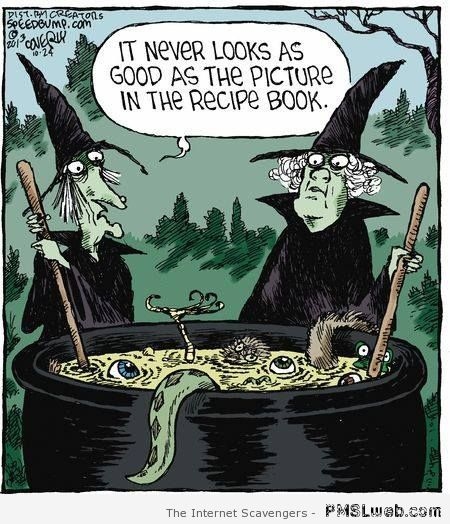 Funny witch cartoon at PMSLweb.com