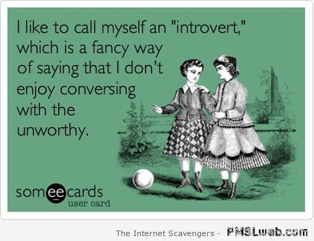 I like to call myself an introvert ecard at PMSLweb.com