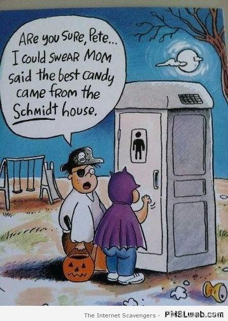 Funny Halloween cartoon – Halloween funnies at PMSLweb.com