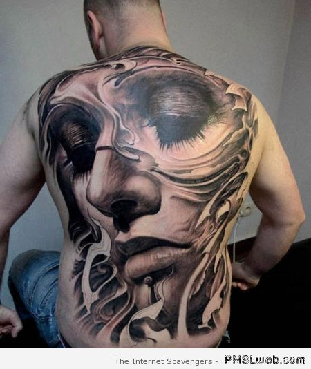 Amazing full back tattoo at PMSLweb.com