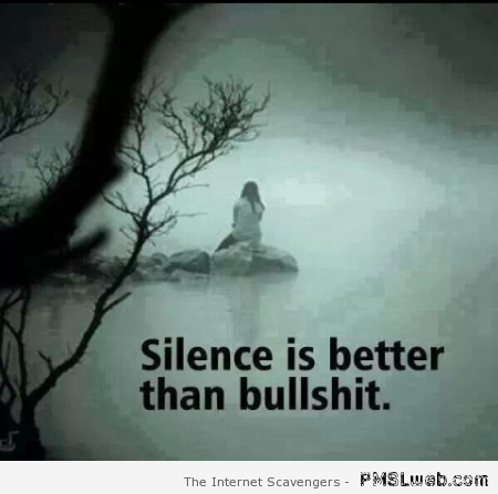 Silence is better than bullshit at PMSLweb.com