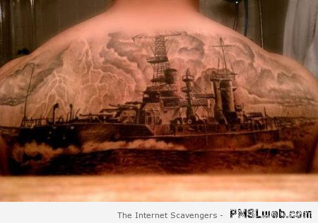 Amazing ship tattoo at PMSLweb.com