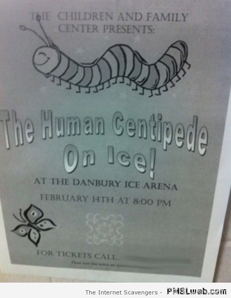 The human centipede on ice – Thursday chuckles at PMSLweb.com