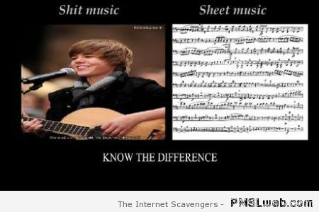 Music know the difference funny at PMSLweb.com