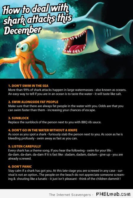 How to deal with sharks humor at PMSLweb.com