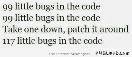 Little bugs in the code song at PMSLweb.com