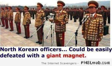 How to defeat north Korean officers humor at PMSLweb.com