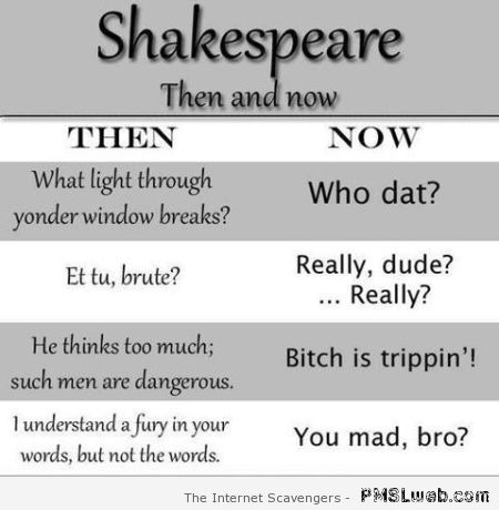 Shakespeare then and now at PMSLweb.com