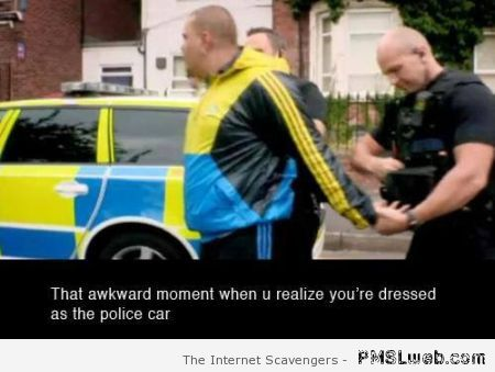 That awkward moment dressed as a police car at PMSLweb.com