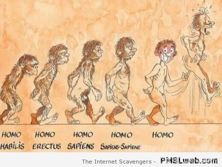 Funny homo evolution at PMSLweb.com