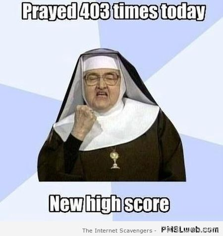 Funny nun new high score at PMSLweb.com