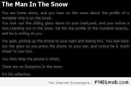 The man in the snow – Scary stories at PMSLweb.com
