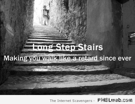 Long step stairs humor at PMSLweb.com