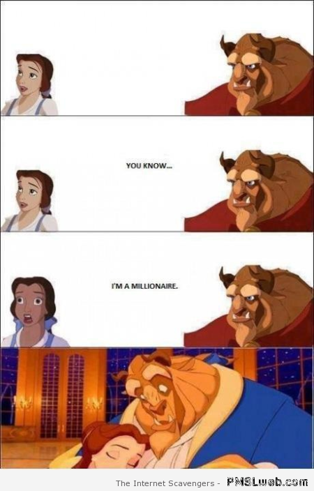 Beauty and the beast humor at PMSLweb.com